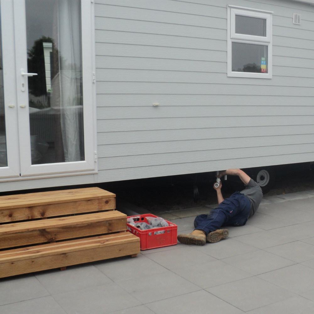 Caravan laten aansluiten Zeeland